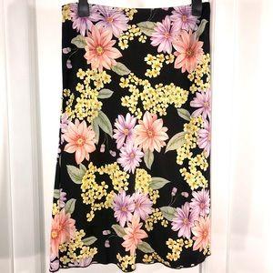 NWT Vintage Floral Summer Skirt, Size L (Juniors)